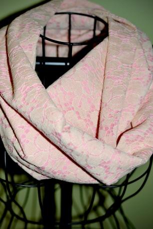 pink lace close