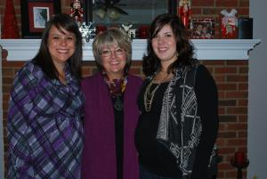 At my baby shower with my Mother-in-Law and Sister-in-Law
